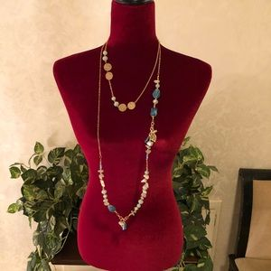 Multi-Stone Wrap Necklace